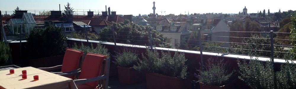 Uneinsehbarer Dachterrassen-Rundum-Blick mitten in Döbling !